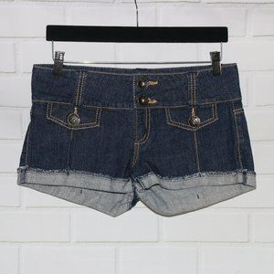 NWOT Hot Kiss Sz 9 Blue Denim Stretch Short Shorts